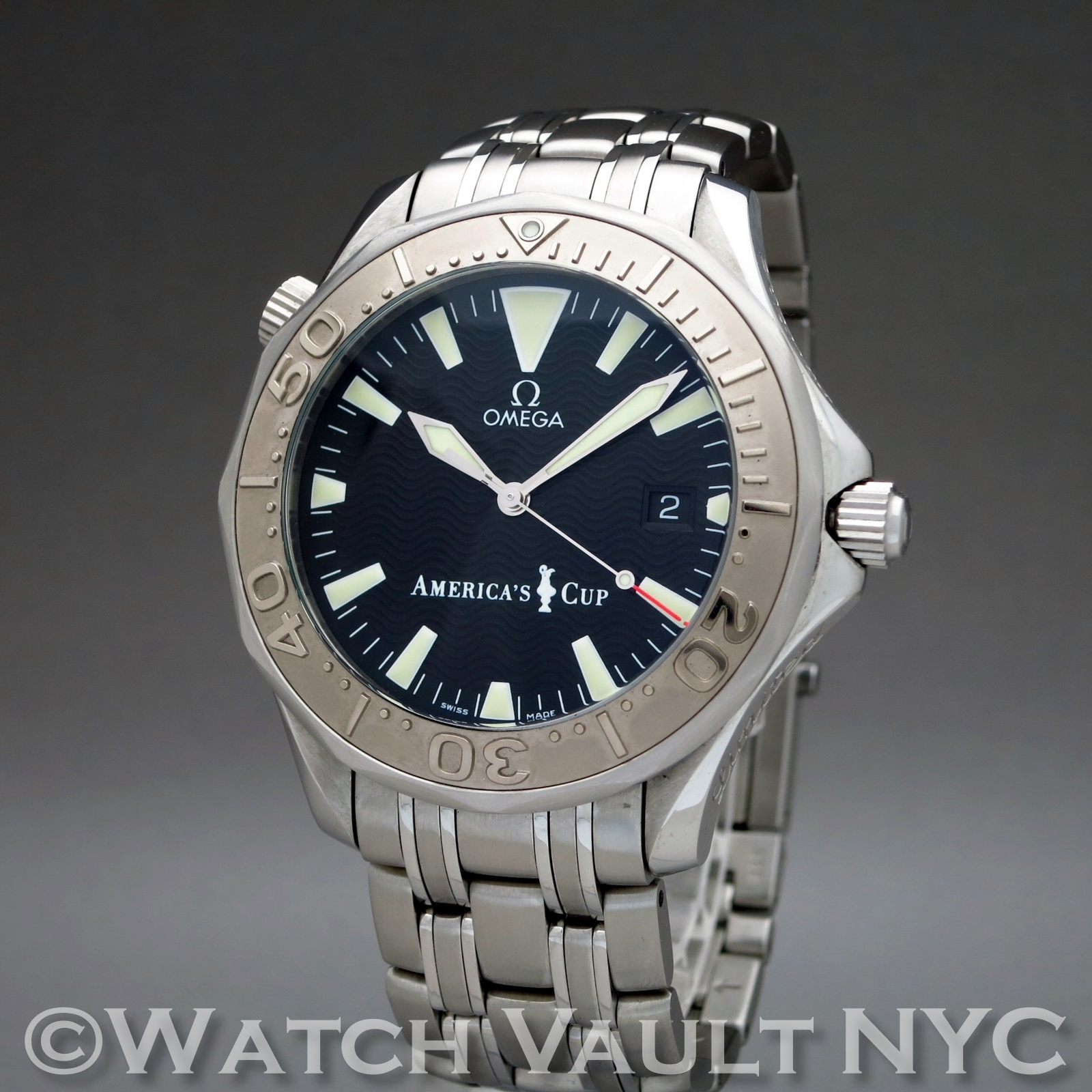 Omega seamaster professional americas cup limited numbered edition 41mm auto for Omega seamaster professional