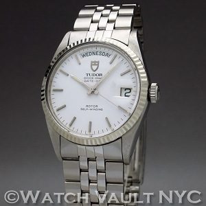 Tudor Oyster Prince Date+Day White Gold Bezel 94614 36mm Auto