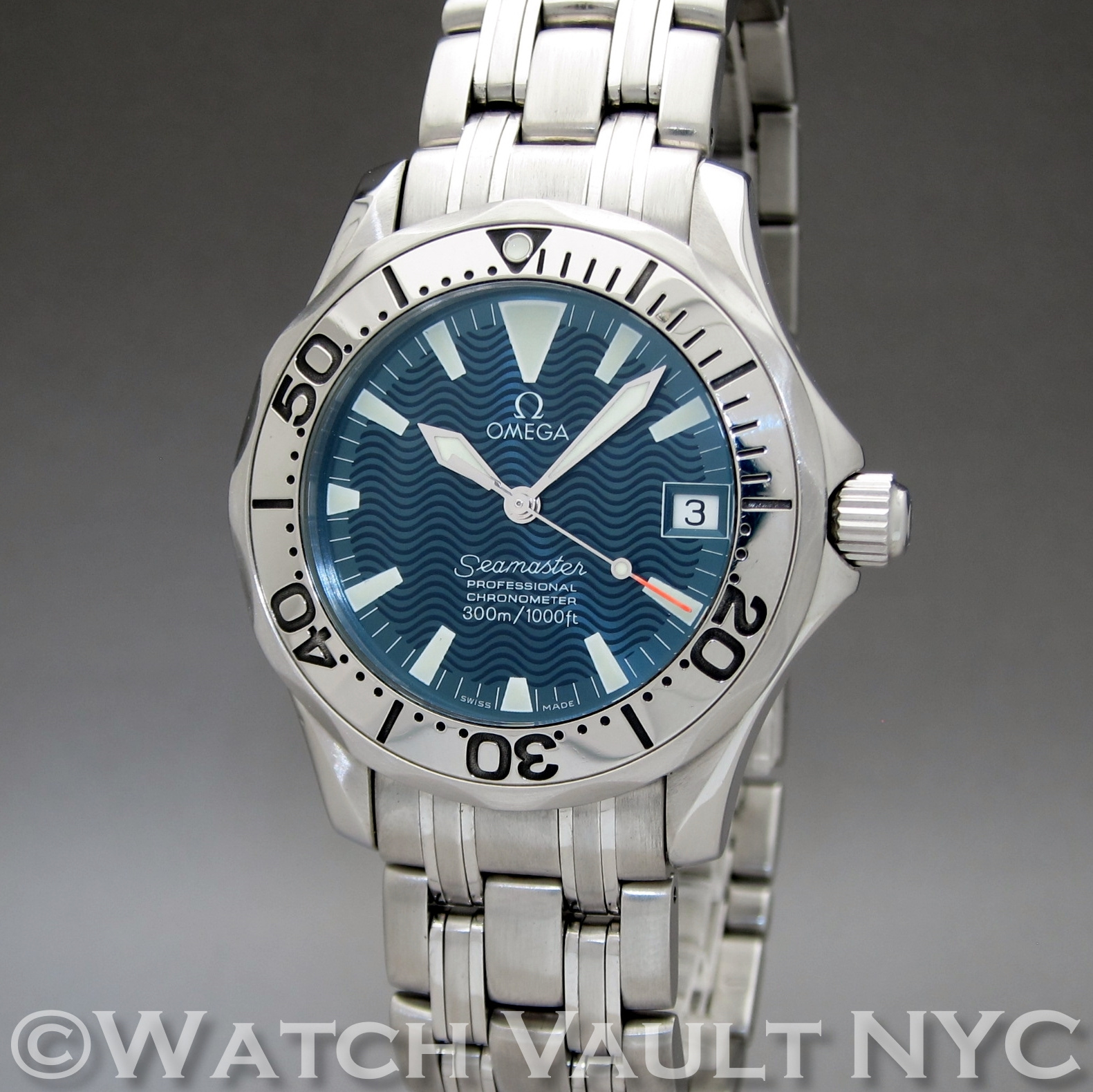 Omega seamaster professional electric blue 300m jacques mayol limited numbered edition for Omega seamaster professional