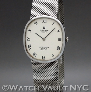 Universal Geneve White Shadow 866104 Vintage 32mm Auto