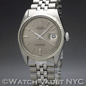 Rolex Datejust 1601 White Gold Bezel Vintage 36mm Auto