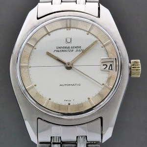 Universal Geneve Polerouter Date  Vintage 34mm Auto