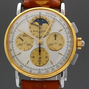 Baume & Mercier Moonphase Chronograph  Vintage 6102.099 33mm Manual