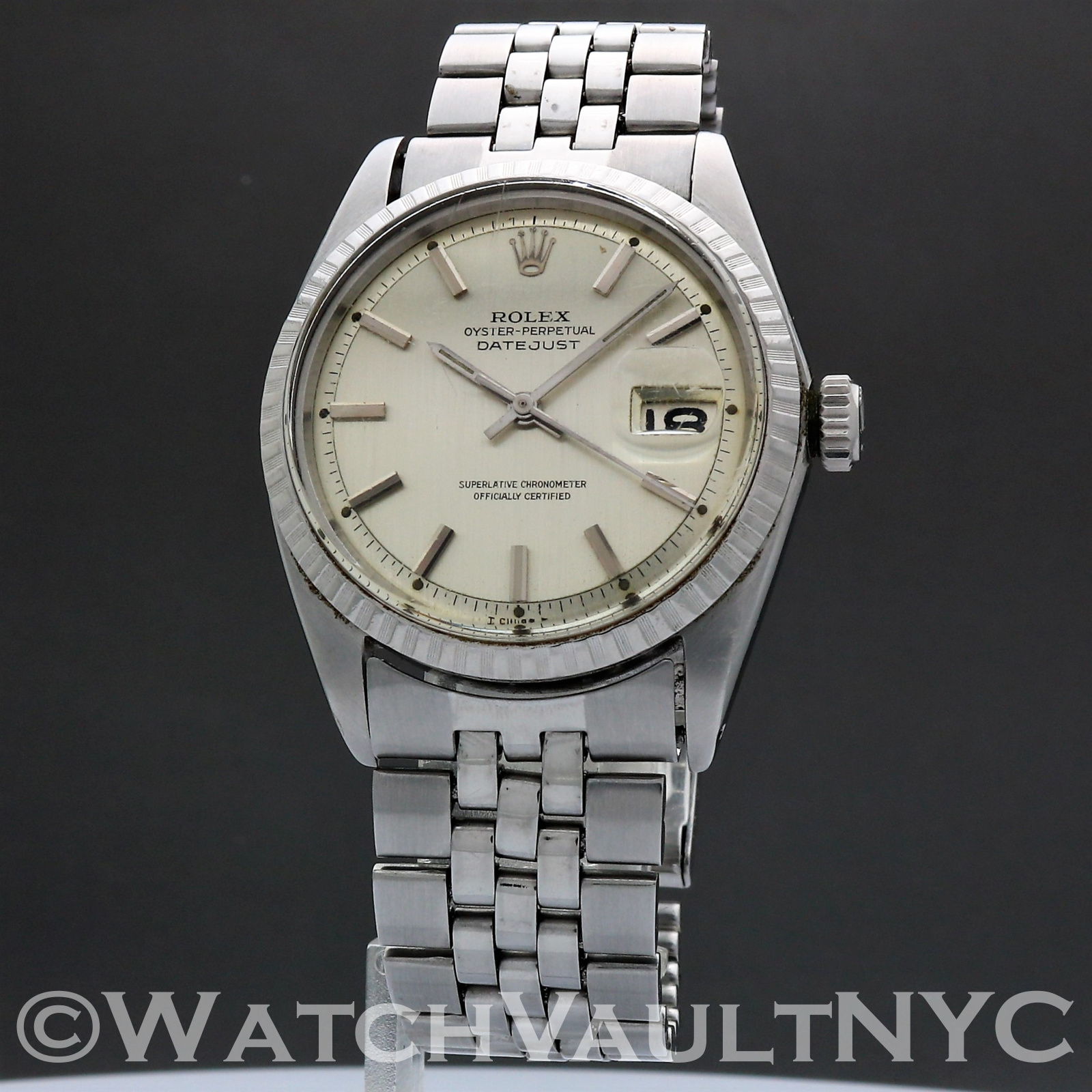 Rolex Oyster Perpetual Datejust 1603 Hypen Dial 1966 Vintage 36mm Auto