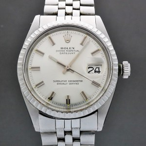 Rolex Oyster Perpetual Datejust 1603 Wide Boy 1971 Vintage 36mm Auto