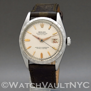 Rolex Red Datejust Big Bubbleback Ovettone 1955 Vintage 6305 36mm Auto