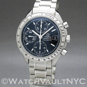 Omega Speedmaster Date  3513.50 39mm Auto stainless steel Case Black Dial Unisex