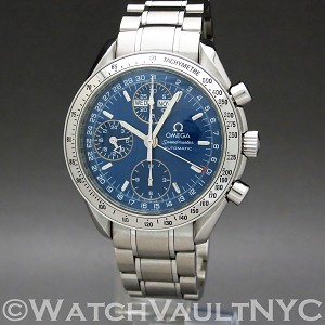 Omega Speedmaster Day Date  3523.80 39mm Auto stainless steel Case Blue Dial Unisex