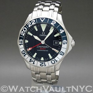 Omega Seamaster Professional 300M GMT 50th Anniversary 2534.50 42mm Auto stainless steel Case Black Dial Unisex
