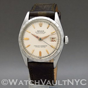 Rolex Red Datejust 6305 Big Bubbleback Ovettone 1955 Vintage 36mm Auto
