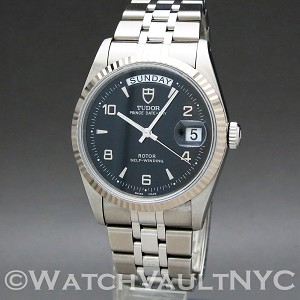 Tudor Date + Day   76214 36mm Auto stainless steel Case Silver Dial Unisex