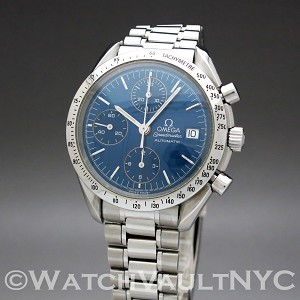 Omega Speedmaster Date  3511.80 39mm Auto stainless steel Case Blue Dial Unisex